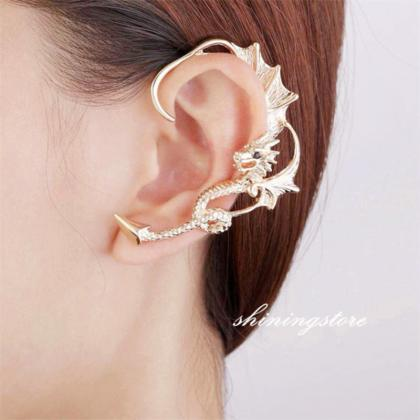 Dragon ear cuff , Dragon earring, D..